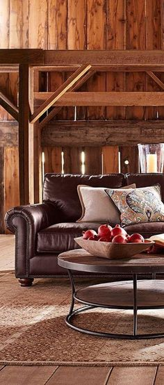 Leather Sectional Furniture: Styled with deep seats and generous roll arms, the Webster Sectional welcomes friends and family in gracious.