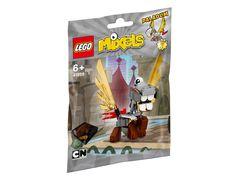 LEGO Mixels 41559 Paladum Diese einäugige pegasusähnliche Kreatur ist das Haustier von 41557 Camillot. Paladum zählt bestimmt nicht zu den klügsten Gefährten, aber er würde alles tun, um sein Herrchen zu beschützen. Du wirst diese immer fröhliche und treu ergebene Figur bestimmt mögen.