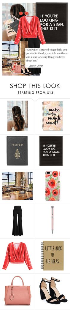 """""""you told me there was a star for every thing you loved about me."""" by kaileewhaley13 ❤ liked on Polyvore featuring Mark Cross, Casetify, Rosetta Getty, Montegrappa, Fendi, Nasty Gal and Garrett Leight"""