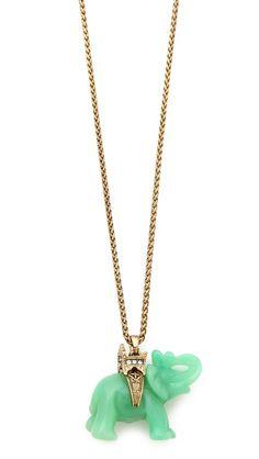 Kenneth Jay Lane Elephant Necklace $119