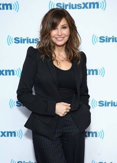 Gina visits at SiriusXM Studios on April 2018 in New York City to talk about her upcoming shows at the Cafe Carlyle in June. Gina Gershon, Layered Hairstyles, White Women, Hair Inspo, Haircuts, Studios, June, Beautiful Women, York