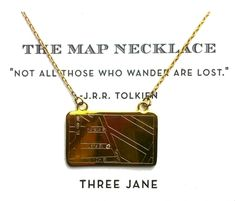 Loving this piece by Three Jane NY! The Map Necklace is a customizable necklace that allows the customer to choose an important or meaningful address that is then engraved into a 14K gold plate and marked with a tiny diamond. Whether it's etched with the address where you grew up, somewhere you studied abroad, where your hubby proposed, or an address from a land that only exists in your favorite novel—you can keep anyplace close to your heart with this necklace.