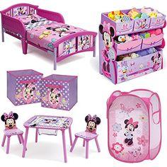 [Toy Storage Ideas] Disney Delta Children Minnie Mouse 8 Piece Furniture  Set