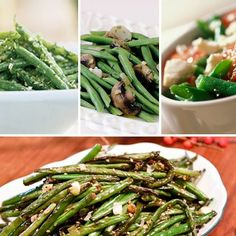 16 Different Green Bean Recipes for Thanksgiving Dinner  --  I'm doing the Parmesan Roasted Green Beans! My Favorite!