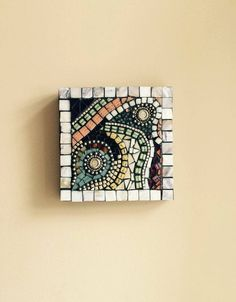 You can order something similar mix of colours, materials and inspiration great wall decor for your home or as gift for someone special new and repurposed materials Mosaic Tile Art, Mosaic Pictures, Creepy Art, Find Objects, Mosaic Patterns, My Etsy Shop, Wall Decor, Abstract, Ceramics