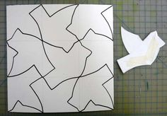 Rotated Tesselation: Instead of sliding the cutouts across the box, rotate to the next side. Escher Tessellations, Tessellation Art, Classroom Art Projects, School Art Projects, Middle School Art, Art School, High School, Escher Art, Art Classroom Management