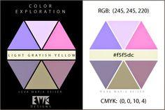 "Eva Maria Keiser Designs: Explore Color: ""Light Grayish Yellow "" | 2012"