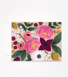 Peach Vintage Blossoms Card