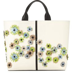 Floral Track Leather Tote Bag - Reed Krakoff