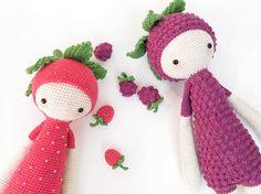 DIY-Anleitung: Fruchtige Rosetten für Erna und Bert häkeln, Aufnäher als Frucht / DIY-tutorial: crocheting fruity applicator for Erna and Bert, fruit patches via DaWanda.com