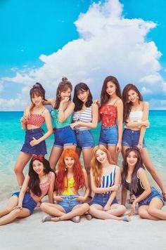 Left to right row - Jihyo, Momo and Chaeyoung. row - Tzuyu, Sana and Nayeon. Last row - Dahyun, Mina and Jeongyeon. Nayeon, K Pop, Kpop Girl Groups, Korean Girl Groups, Kpop Girls, Twice Dahyun, Tzuyu Twice, Mamamoo, Girls Generation