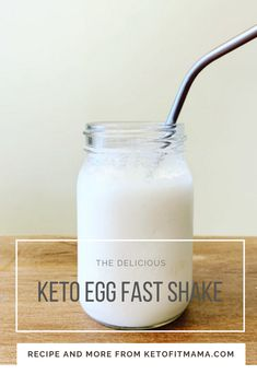 The recipe for a keto egg fast shake from keto fit mama. Delicious and healthy. - The recipe for a keto egg fast shake from keto fit mama. Delicious and healthy… egg fast approved! Low Carb Pasta, Low Carb Meal, Eggfast Recipes, Shake Recipes, Chili Recipes, Raw Egg Smoothie, Egg Fast Rules, Schnitzel Hawaii, Keto Egg Muffins