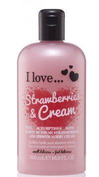 i love strawberries and cream