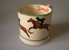 Emma Bridgewater Fox Hunting Baby Mug made for Harvey Nichols in 1988
