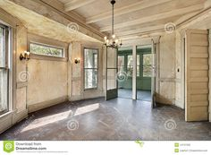 Dining room in old abandoned home