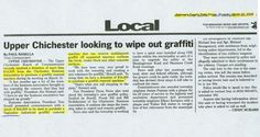 ETS Company in the Delaware County Times Newspaper for the World's Best Graffiti Remover Taginator.