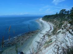 """Savary Island (or sometimes referred to as the """"Hawaii of the North"""") near Powell River. Warm waters, white sand beaches...bring on summer! #explorebc Photo by,"""