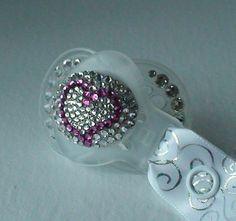 HEART Mam Swarovski Rhinestone BLING Pacifier Crystal by tropical5, $30.00