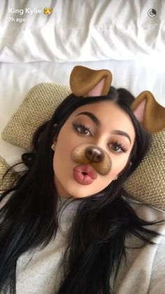 kylie jenner, snapchat, dog filter