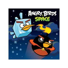 Angry Birds Space Beverage Napkins 16ct