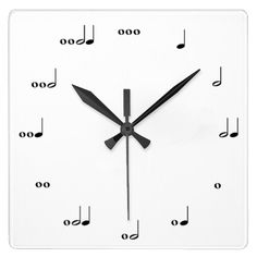 The Original Music Note Clock This clock tells time in rhythm. Each number is represented by notes that make up the appropriate number of beats. Great for music-lovers and kids learning how to read music! Partituras Trombone, Bass Clarinet, Music Humor, Orchestra Humor, Music Quotes, Music Gifts, Original Music, Music Theory, Geek Gifts