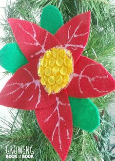 Read The Legend Of The Poinsettia And Then Let The Kids Make This Fun Christmas Ornament