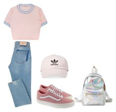 """No name"" by elzikaa on Polyvore featuring Vans, Charlotte Russe and adidas"