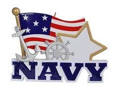 Navy Personalized Ornament * Haven't you heard that you can find more discounts at this image link : Christmas Home Decor