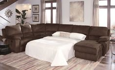 sectional sofas with recliners | Contemporary Dark Chocalate Micro Suede Reclining Sectional Sofa NY ...