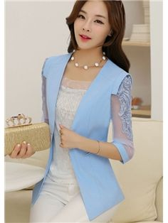 Fashion Slim V-Neck Special Sleeves Blazers Classy Work Outfits, Office Outfits Women, Stylish Outfits, Stylish Dresses For Girls, Simple Dresses, Nice Dresses, Hijab Fashion, Korean Fashion, Fashion Dresses