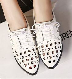 Sweet Style Pointed Toe Hollow Out Shoes LAVELIQ