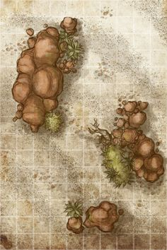med size RPG maps, meant to be used in roleplaying games such as Dungeons & Dragons or Pathfinder. Dungeons And Dragons, Desert Map, Pathfinder Maps, Rpg Map, Dungeon Maps, Tabletop Rpg, Tabletop Games, Fantasy Map, Fantasy Setting