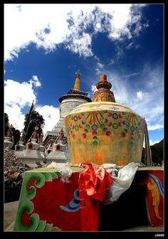 Buddha Towers. Tibet