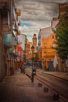 Painted streets of Calella, Costa Del Maresme, Catalunya, Spain