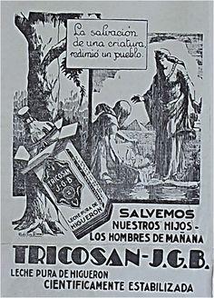"""Tricosan [sic] J.G.B. """"Leche pura de Higuerón"""" · Archivo de Publicidad Colombiana 1800-1950"""
