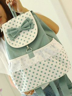 Fashion Cute Women Girl Lace Vintage Canvas Daily Rucksack Satchel Backpack Bag