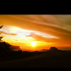 Depoe Bay, Oregon sunset