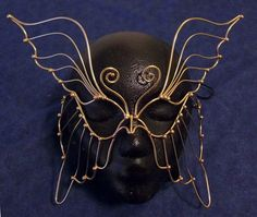 gold wire butterfly mask