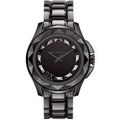 Karl Lagerfeld Klassic Stainless Steel Mens Watch in Black Cool Watches, Watches For Men, Black Watches, Women's Watches, Karl Lagerfeld Watches, Black Face Watch, Black Jewelry, Men's Jewelry, Jewelry Watches