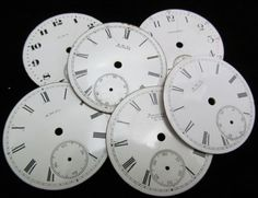 Steampunk Watch Dials Vintage Antique Faces by amystevensoriginals