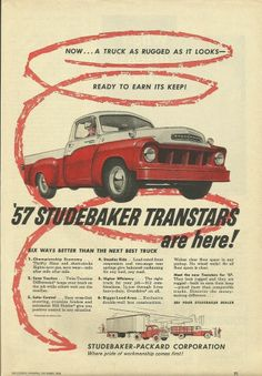 1957 Studebaker Transtars Pickup Trucks As Rugged As It Looks Ad
