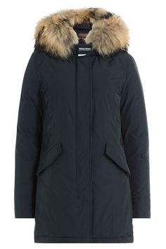 WOOLRICH - Luxury Arctic Down Parka with Fur-Trimmed Hood | STYLEBOP.com