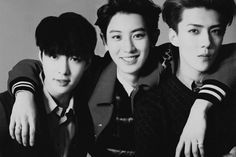Lay <3 Chanyeol <3 Sehun ♥ for ELLE MEN, September 2014 issue