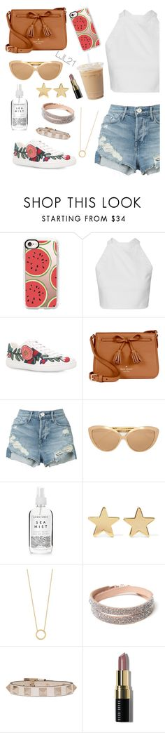 """""""Sin título #415"""" by leninkaaa ❤ liked on Polyvore featuring Casetify, Gucci, Kate Spade, 3x1, Linda Farrow, Herbivore, Jennifer Meyer Jewelry, Jennifer Zeuner, Valentino and Bobbi Brown Cosmetics"""