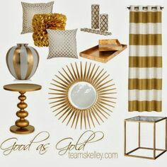 gold home decor