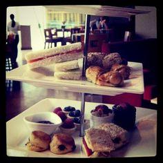 Tea set at Spasso Italian bar restaurant terrace (Shop 403, Level 4, Ocean Centre)