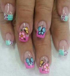 Viviana Butterfly Nail Art, Pretty Nail Designs, Toe Nails, Summer Nails, Pretty Nails, Pedicure, Makeup Tips, Finger, Beauty