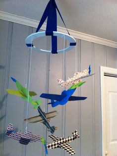 DIY airplane mobile from Notes From Heather