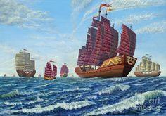 Zheng He : le « Christophe Colomb Sailing Tattoo, Sailing Logo, Sailing Style, Sailing Knots, Sailing Gear, Sailing Dinghy, Zheng He, Model Sailing Ships, Ship Drawing