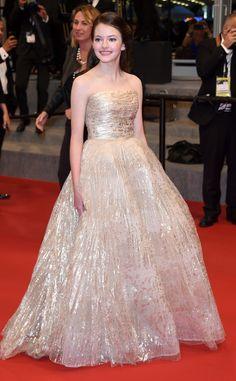 Mackenzie Foy in Oscar de la Renta at the premiere of Le Petit Prince #Cannes2015